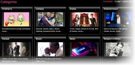 iPlayer - browse by category