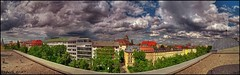 ~ M U N I C H ~ (HDR-panorma from roof/~7th floor) (Klaus_GAP - taking a timeout) Tags: city sky clouds germany munich mnchen bayern deutschland bavaria colorful himmel wolken stadt greatshot hdr hdri olympiaturm rotkreuzplatz photomatix hdrpanorama hdrpano golddragon schwesternwohnheim abigfave flickrslegend goldstaraward multimegashot nymphenburgerstrase skyascanvas maillingerstrase