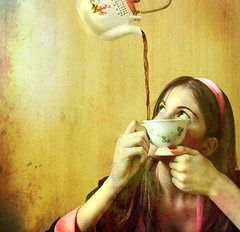 Anti-gravity Tea ll (Nika Fadul) Tags: texture girl looking tea magic ch mnicafadul antigravitacional nikafadul flyjng