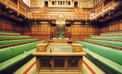 The green benches of Parliament