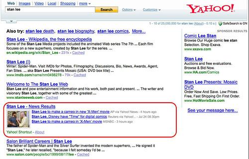 News dans Yahoo!