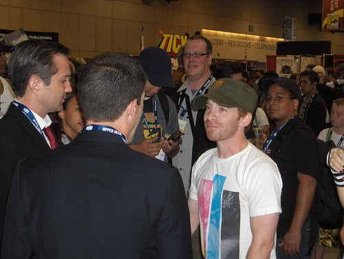 "Tom Lennon and Ben Garant from ""The State"" with Seth Green"