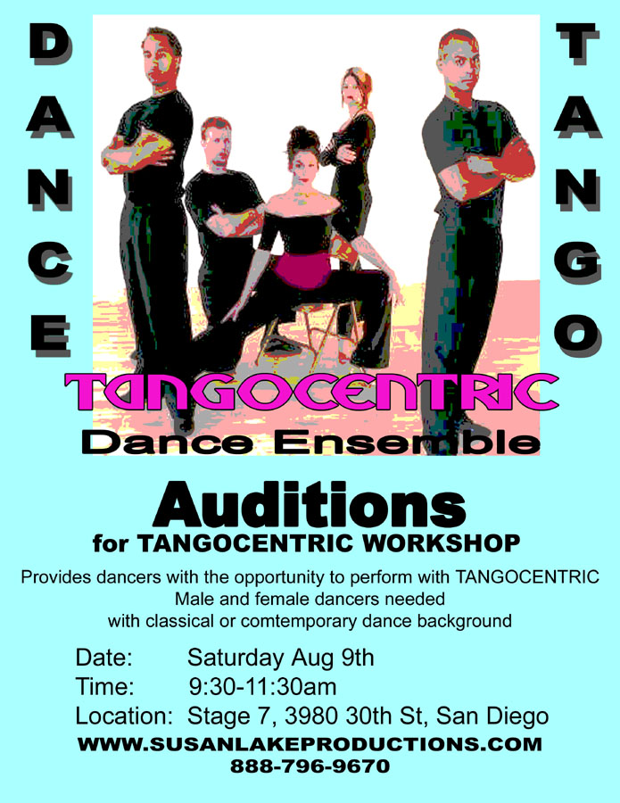 TANGOCENTRIC AUDITION FLYER