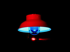 red and blue light (Rennett Stowe) Tags: blue red nightlight blueglow bluebulb nightblue lonelylight suspendedinair lonelynight intothinair lightglow flickeringlight cagedlight suspendedlight soniclight lostlight flickringlight transcendentlight mybluebulb bluelamplight redandbluelight bigbluebulb twilightbulb castingablueglow redandbluelamp cagedlamp lonelamp