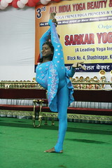 Leg-to-head standing spilt (YY) Tags: people india yoga pose dance performance competition asana jamshedpur