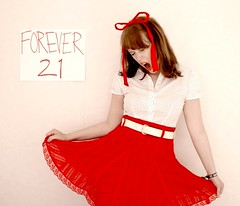 (JenniPenni) Tags: birthday red youth bow scream 365 conceptual forever21 wantingtostoptime innerwildchild