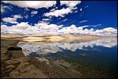 Tso Moriri Lake (Prabhu B Doss) Tags: india reflection expedition water clouds landscape nikon country sigma wideangle 1020mm leh 1020 ladakh prabhu tsomoriri naturesfinest highwaycross korzok incredibleindia d80 prabhub ladakhscape tsotso morriri lakeladakh lakesfresh lakesindochinaborder roadsbrojkkashmirmanaliilehmanali drivebike prabhuboomibalagadoss