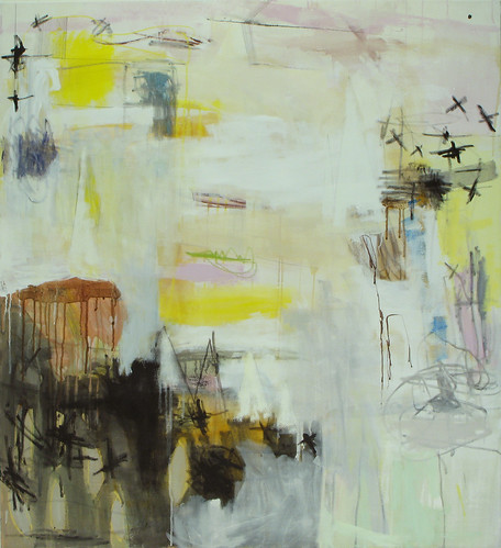 "Untitled I, (2008), Acrylic on canvas, 44""x48"" by elizabeth schuppe."