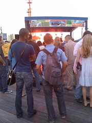 Listening to Tunes at South Street Seaport