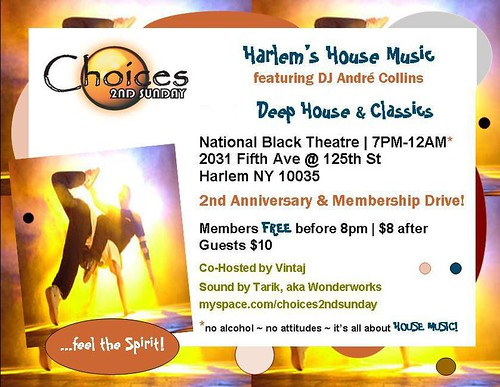 Choices 2nd Sunday @ The National Black Theatre in Harlem