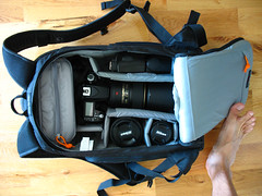 All my gears - in a LOWEPRO FLIPSIDE300 () Tags: lens gear dslr lenses lowepro     flipside300