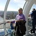 Mom on the London Eye