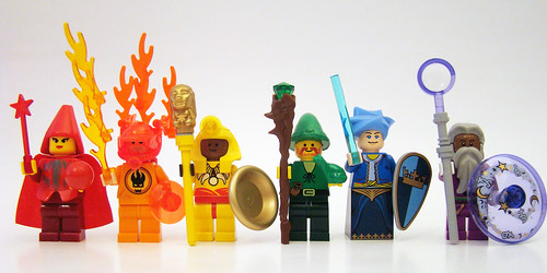 The Rainbow Council wizar minifigs