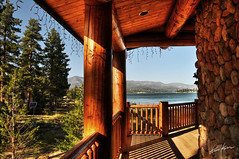 lakeview (Kris Kros) Tags: california bear ca blue vacation sky usa lake tree pine photoshop print relax big log cabin nikon view time canvas socal kris to lakeview 2008 hdr available kkg d300 cs3 photomatix kros kriskros 5xp kk2k kkgallery