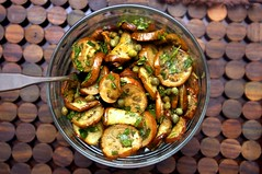 Marinated Eggplant with Mint and Capers