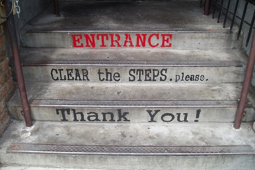 Clear the Steps.please.