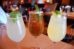 Trio of Carbonation: Bacardi Mojito Fizz,Sparkling Woodford Reserve Mint Julep, Carbonated Cointreau Margarita