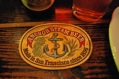 coaster / anchor steam beer