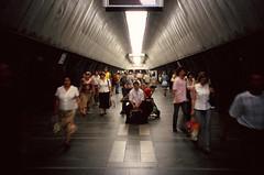 underground - kyiv (chirgy) Tags: motion blur metro ukraine scan handheld commuting analogue velvia100 kiev kyiv centralfocus directgaze autaut asitcomes palatssportu pentaxespion120mi