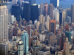 Skyscraper canyons (Dan_DC) Tags: nyc newyorkcity urban newyork big cityscape manhattan bestviewedlarge aerialview aerial bigapple urbanscene