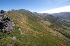 当麻岳の稜線