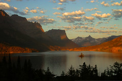 Wild Goose Island (BigSkyKatie) Tags: park morning trees wild summer sun lake mountains nature silhouette st clouds sunrise landscape rockies island rising dawn montana northwest mary august rules goose glacier read national rockymountains geology glaciernationalpark peaks stmarylake risingsun pristine bigskycountry wildgooseisland abigfave natureoutpost goldstaraward katielasallelowery natureandnothingelse