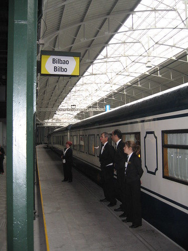 Bilbao station, El Transcantabrico - a luxury train in Spain, charter from Train Chartering