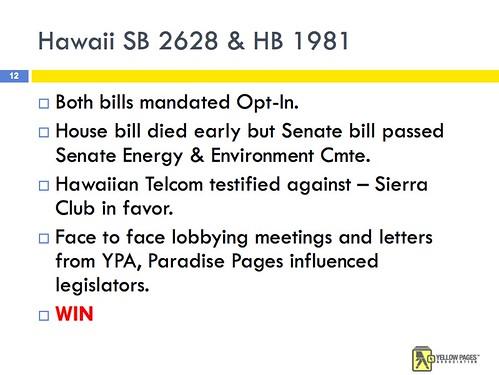 Hawaii Phone Book Legislation