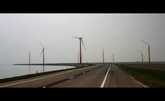 Green (Jan Ronald Crans) Tags: green modern groen energie windmills polder flevoland windturbine weg almere windmolens oostvaardersdijk groeneenergie