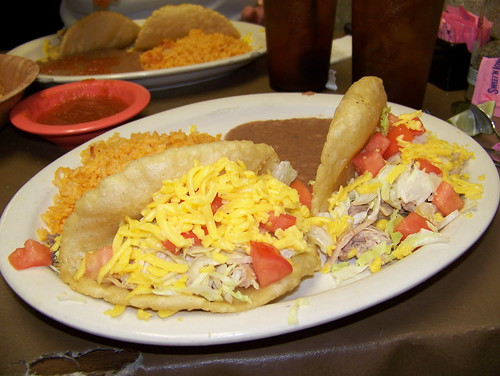 Puffy tacos at Christina's