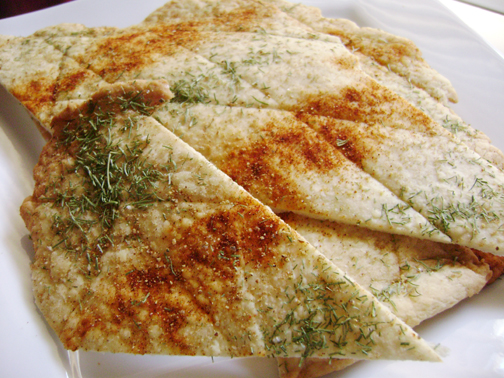 Daring Bakers September: Lavash Crackers with Toppings