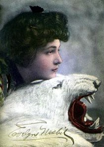 Evelyn Nesbit on a Bear Rug