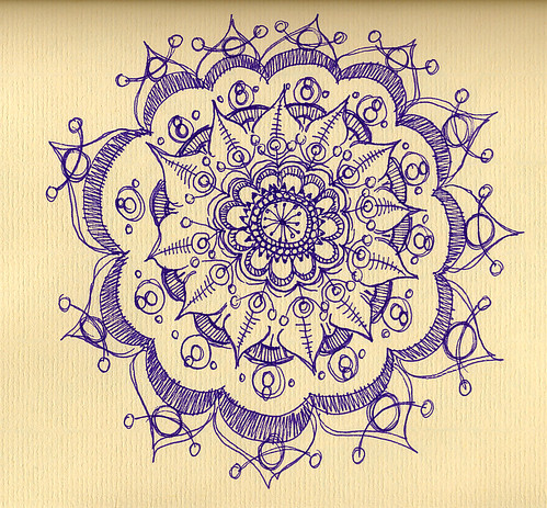 Purple Barbed Mandala