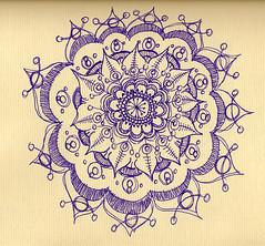 "Purple Mandala (Stephanie ""Biffybeans"" Smith) Tags: art classic sketch energy artist spirit expression journal mandala doodle inside meditation healing fabriano"