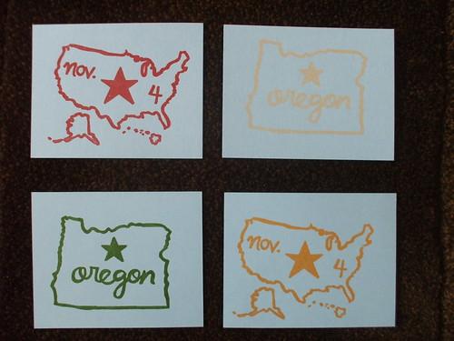 My Obama postcards