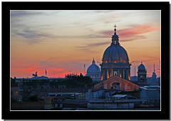 red rome (milleluce.com) Tags: sunset italy rome domes giang giangle giangleorg