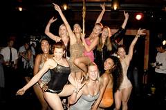 Yummie Tummie - NY Fashion Week Pole Dancing Event (Yummie Tummie) Tags: poledancing girdle bodyshaper slimmers patrickmcmullan heatherthomson nyfashionweek bodywrap shapewear yummietummie bodyslimmer lauriebeechmantheater womenshapewear tummycontrol