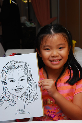 Caricature live sketching for birthday party 10