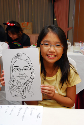 Caricature live sketching for birthday party 1