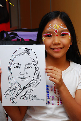 Caricature live sketching for birthday party 11