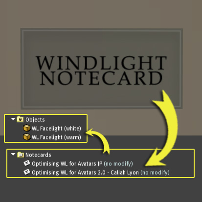 Face Light  and Widlight settings by Caliah of Muse