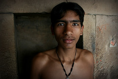 Pehlwani. India (fredcan) Tags: travel light boy portrait india look indian varanasi wrestler gaze kashi youngman benares uttarpradesh akhara kushti pehlwan