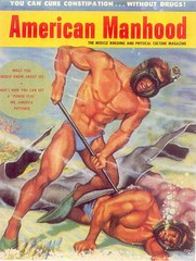 American Manhood (hagerstenguy) Tags: man men water america magazine fight divers underwater muscle diving guys cover american hood diver speedo fighting