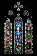 East window St Leonard's - Priors Marston