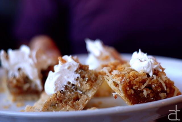pie sampler at sunglow cafe
