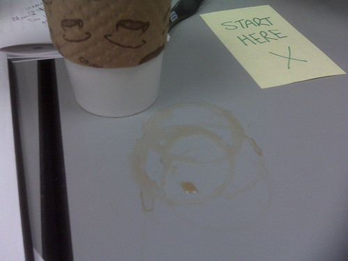My coffee has a leak!
