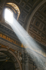 St. Peter's Basilica (johnwilliamsphd) Tags: city light italy copyright vatican stpeters rome roma window architecture john williams cathedral basilica c beam latin lazio stpetersbasilica  eternalcity williams john johncwilliams johnwilliamsphd phd