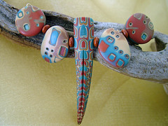 NewMexico (julie_picarello) Tags: house yellow beads wire julie jewelry clay sterling rivet polymer gane mokume picarello