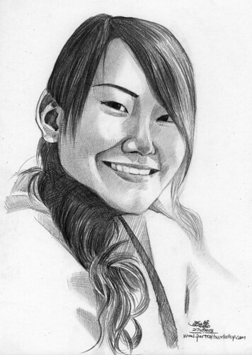 lady portrait in pencil 271008