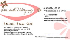 Referral Bonus Card (Krista Gabbard) Tags: special offer card bonus client coupon referral